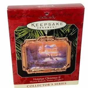 Thomas Kinkade Ornament Victorian Christmas 1998